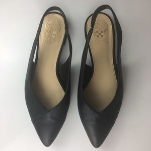 Vince Camuto Womens Jasenia Leather Flats 7.5M